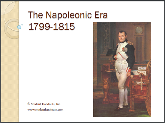 the napoleonic era 1799 1815 powerpoint