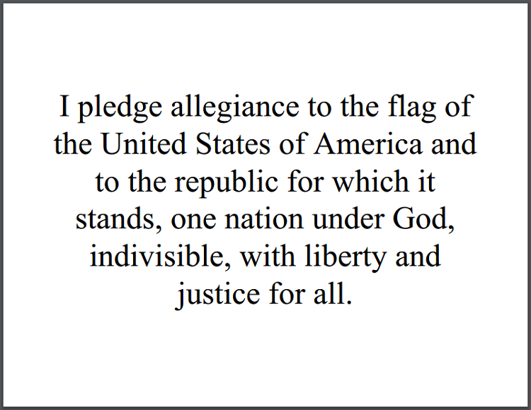 photograph about Pledge of Allegiance Words Printable named The Pledge of Allegiance (1954) Scholar Handouts