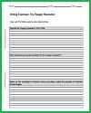 Reagan Revolution Writing Exercises