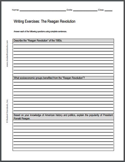 Reagan revolution essay