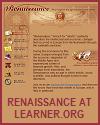 Renaissance Interactives at learner.org