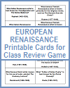 Printable Question Cards on the Renaissance