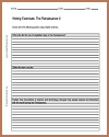Renaissance Writing Exercises Handout #2