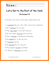 Let's Get to the Root of the Verb Worksheet #1