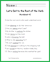 Let's Get to the Root of the Verb Worksheet #3