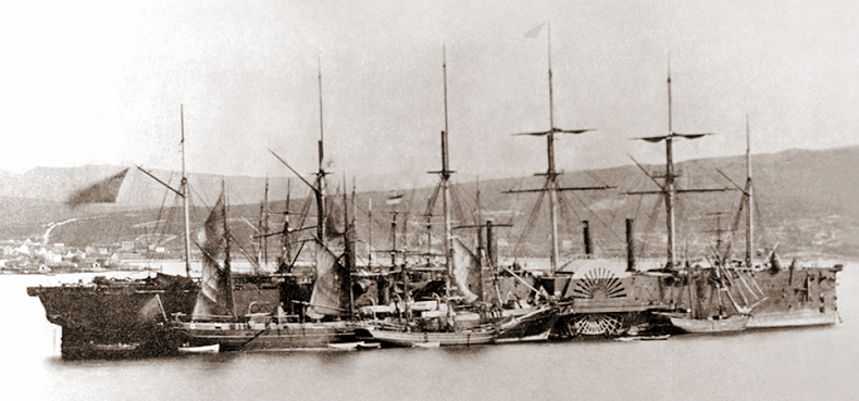 SS Great Eastern Laying Cable in1866