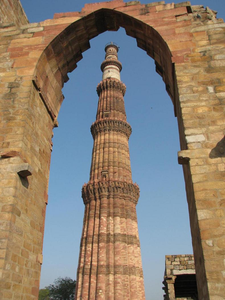 Minaret at Qutab Tower in Delhi, India