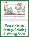 Vassal Paying Homage Coloring and Writing Sheet
