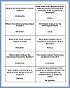Printable Study Game Question Cards on World Religions