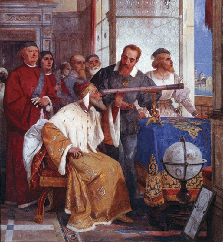 Galileo Galilei Showing the Doge of Venice How to Use the Telescope by Giuseppe Bertini (1858)