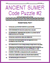 Ancient Sumer Code Puzzle #2