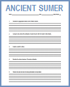 Ancient Sumer Writing Exercises