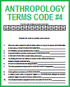 Anthropology Terms Code Puzzle #4