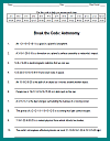 Astronomy Decipher-the-Code Puzzle Worksheet