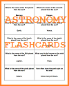 Astronomy Question Game Cards