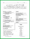 Complete the Lyrics to Auld Lang Syne Worksheet