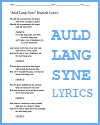 Auld Lang Syne Song Lyrics - Happy New Year