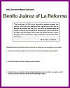 Benito Juarez La Reforma DBQ Worksheet