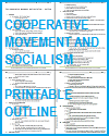 Cooperative Movement and Socialism Outline and Timeline for World History and European History