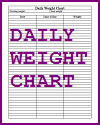 Daily Weight Chart Log