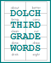 Dolch Third Grade Word List Flashcards