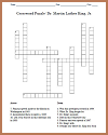 Dr. Martin Luther King Crossword Puzzle Worksheet