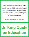 Dr. King Printable Quote on Education
