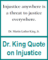 Dr. King Printable Quote on Injustice