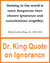 Dr. King Printable Quote on Ignorance and Stupidity