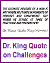 Dr. King Printable Quote on Challenges