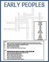 Early Peoples Crossword Puzzle Worksheet