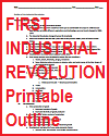 First Industrial Revolution Outline