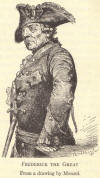 Frederick the Great of Prussia.  From a drawing by Menzel.