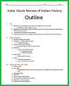 Overview of India's History Outline