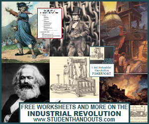 Free Worksheets, PowerPoints, and More on the Industrial Revolution in World History