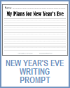 My New Year's Eve Plans Writing Prompt