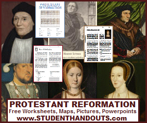 Protestant Reformation - 100% free educational materials.