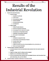Results of the Industrial Revolution Outline