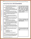 Ten Commandments DBQ Worksheet