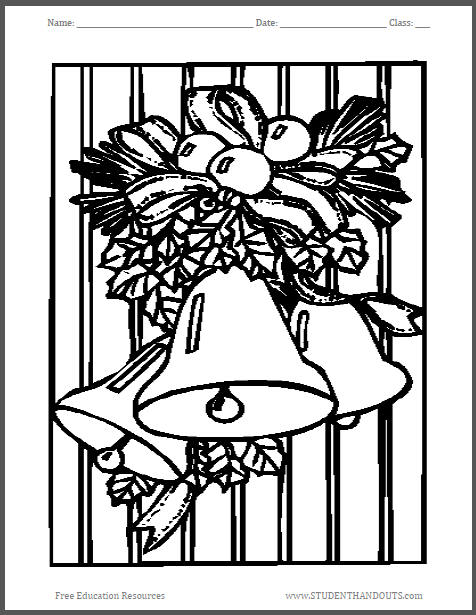 Silver Bells Coloring Page for Kids