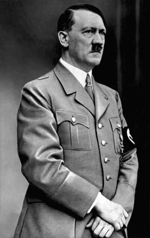 Adolf Hitler (1889-1945). Adolf Hitler was born in Braunau am Inn, Austria-Hungary. He served as Führer and Reichskanzler of German, and as leader of the Nazi Party. Hitler led Germany to defeat in World War II.
