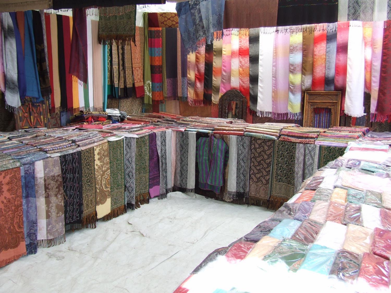 Fabrics at a Kabul Bazaar