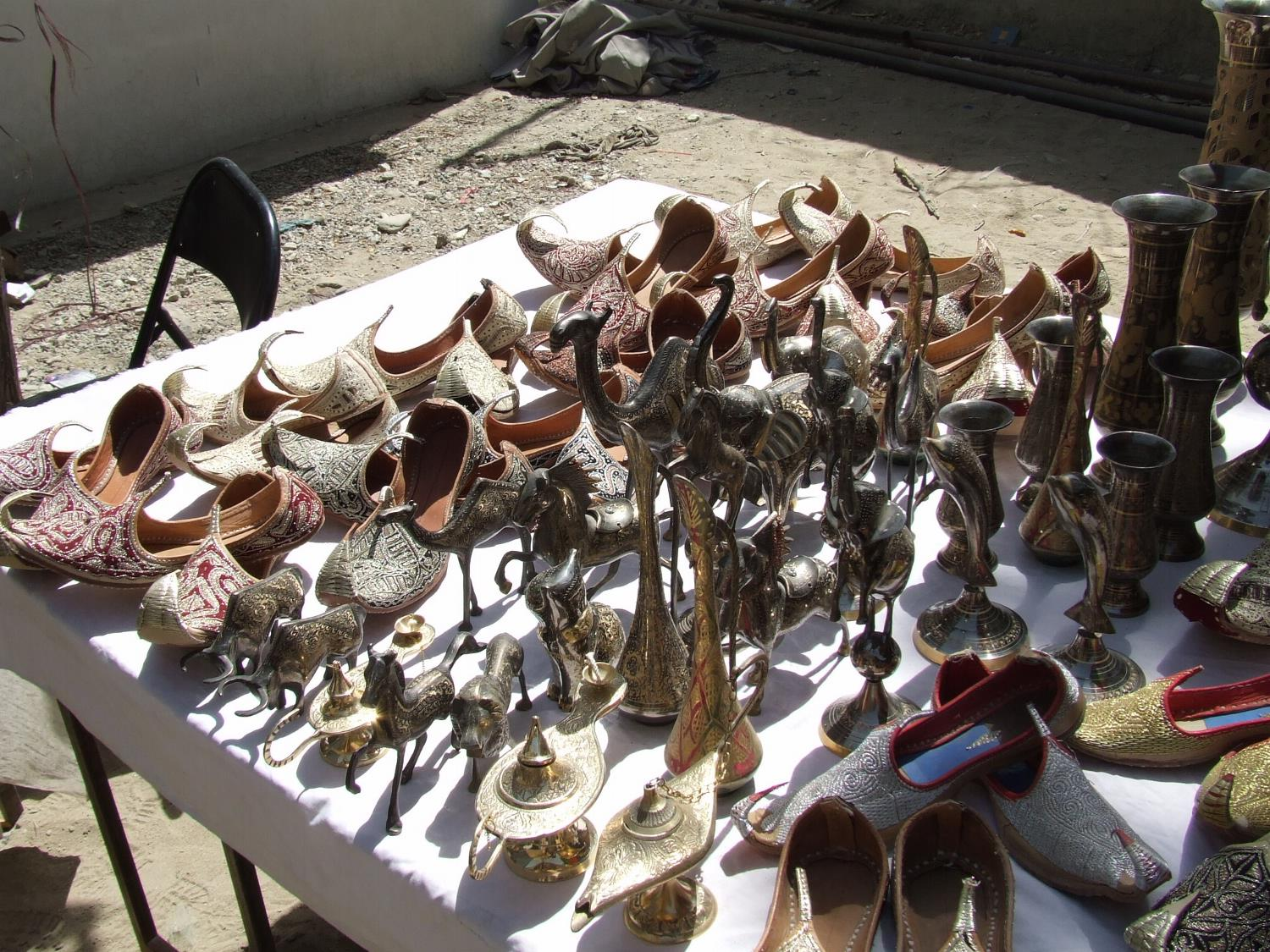 Afghani Shoes at a Kabul Bazaar
