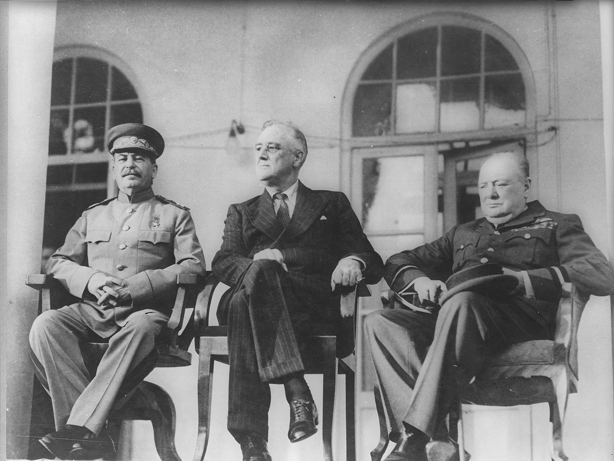 The Big Three at Tehran Conference, 1943 (World War II)