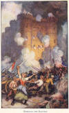 The storming of the Bastille.  Paris, France, July 14, 1789.