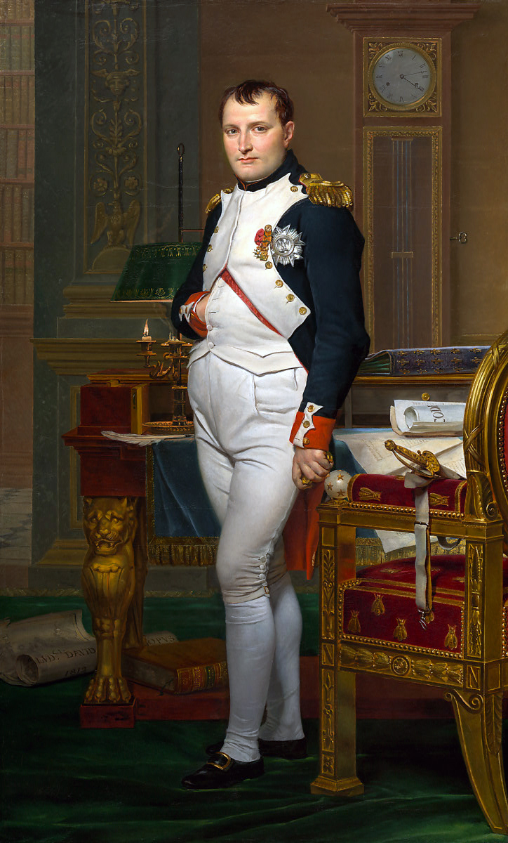 The Emperor Napoleon in His Study at the Tuileries by Jacques-Louis David (1812)