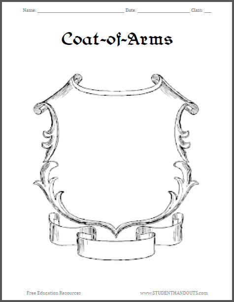 Free Printable Coats-of-Arms Sheets