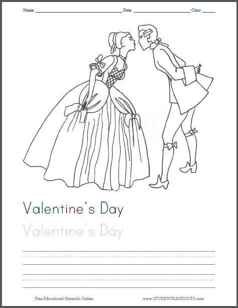 Love's First Kiss - Free Printable Coloring Sheet for Kids