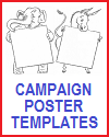 Free Printable Campaign Poster Templates - Democratic Party Donkey and Republican Party Elephant