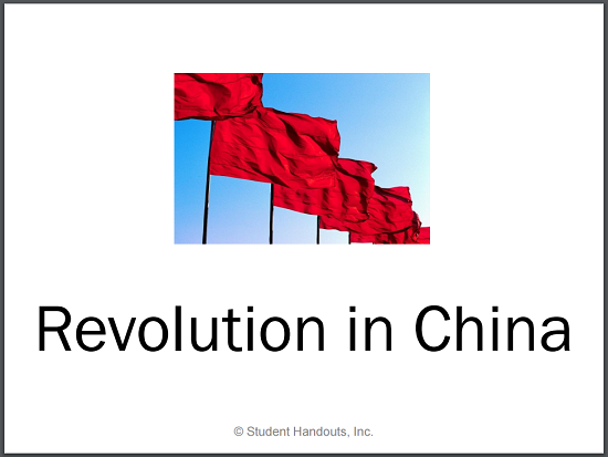 Revolution in China PowerPoint for High School World History with Guided Notes for Students